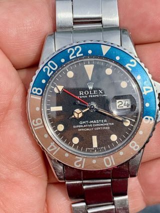 Vintage Rolex 1675 GMT Master TROPICAL DIAL Box and Papers 5