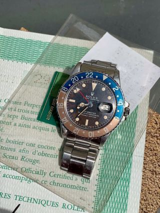 Vintage Rolex 1675 GMT Master TROPICAL DIAL Box and Papers 8
