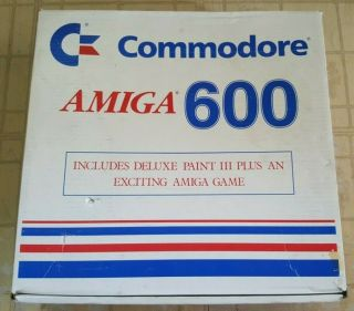 Rare Vintage Commodore Amiga 600 Packaged