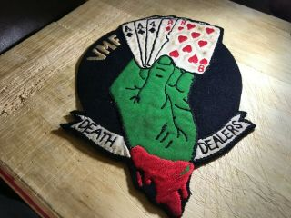 Wwii/ww2 - Us Marines Patch - Vmf - 14 Fighter Squadron Death Dealers - Usmc