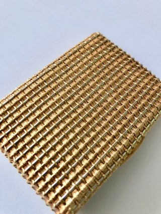 Tiffany & Co Shlumberger Two Tone.  750 Gold Basket Weave Compact