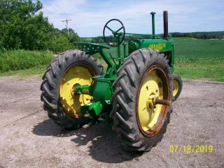1937 John Deere Unstyled A Antique Tractor a b g h d m 7