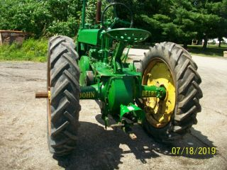 1937 John Deere Unstyled A Antique Tractor a b g h d m 8