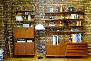 Poul Cadovius Royal System 2 Bay Teak Wall Unit