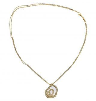 Chopard Happy Spirit Diamond 18k Gold Heart Pendant Necklace Retail $9830