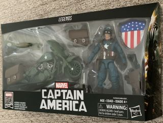 "Marvel Legends 80th Wwii Captain America,  Motorcycle 6 "" Figure Vintage Avengers"