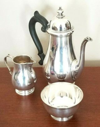 Antique Tiffany & Co.  Sterling Silver Tea Set Stamped 31.  8oz