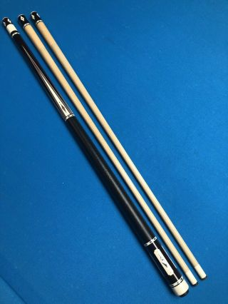 Highend Dave Kikel Cue - 4 Exotic Points,  Inlays,  Joint,  Buttcap - - Rare