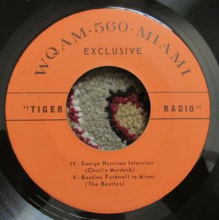 Beatles ULTRA RARE WQAM MIAMI PROMOTION ONLY RADIO 45 RECORD AUTHENTIC ISSUE 2