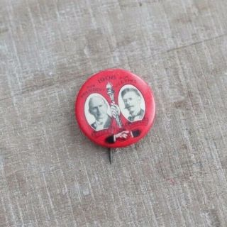 Extremely Rare 1908 Eugene V.  Debs Vs.  Ben Hanford Socialist Literature Co.  Pin