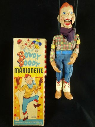 Vintage Howdy Doody Marionette Doll – 1950's