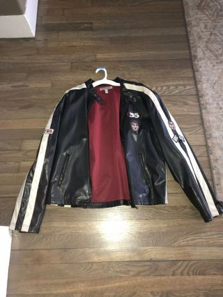 Vintage Leather Jacket Worn By Rod Stewart