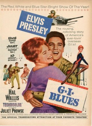 Vintage Movie 16mm G.  I.  Blues Feature 1960 Film Ww2 Elvis Presley