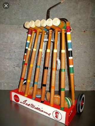 Vintage Ted Williams Croquet Set Never Been Opened 1966