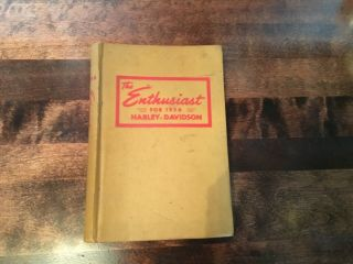 1956 Harley Davidson Motorcycle Enthusiast 12 Issues Book,  Inc Elvis May Issue