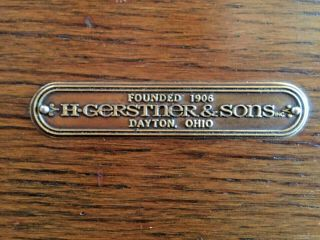 VINTAGE H.  GERSTNER & SONS 0B62 OAK 7 DRAWER BASE CHEST NICKEL LOCK 2 KEYS,  USA 11