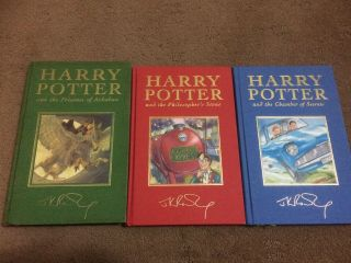 Harry Potter Book Deluxe Set 1/1 First Print 1st Edition,  Three Rare Books