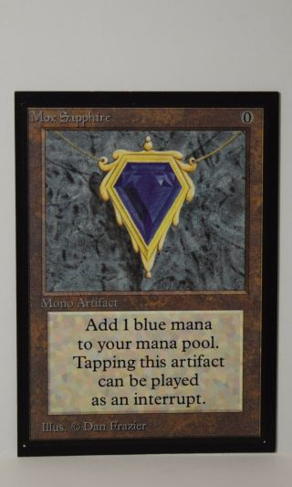 Mtg Magic The Gathering - Collectors Edition Ce - Mox Sapphire X1