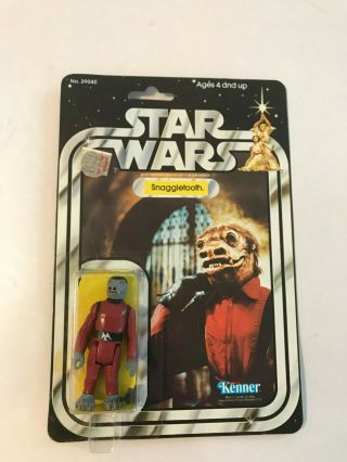 Vintage Star Wars 1979 Kenner Snaggletooth Anh 21 Back Card Moc Clr Bubble