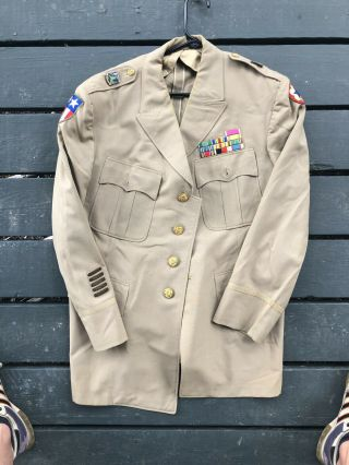 Wwii Us Uniform Jacket With Patches Cbi Badges