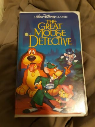The Adventures Of The Great Mouse Detective - Rare - Walt Disney