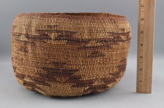Authentic Antique Northern California Native American Hupa - Yurok Indian Basket