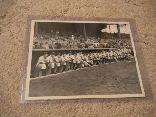 Rare Type 1 Yankee Team Photo From 1936 Ws (lou Gehrig,  Joe Dimaggio)