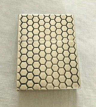 Tiffany & Co Sterling Silver Italy Zippo Honeycomb Vintage Cigarette Lighter