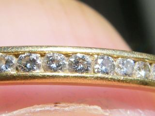 Vintage - 18ct Gold/diamond Set Half Eternity Ring - Circa 1950