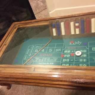 Vintage Coffee Table/Craps Table By Exidy 4