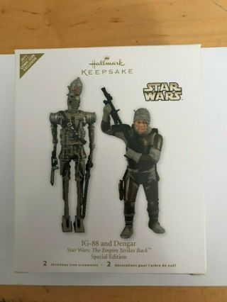 2011 Hallmark Ornament Star Wars Ig - 88 And Dengar Very Rare Sdcc Nycc Nib