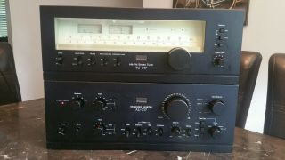 Vintage Sansui Au - 717 Integrated Amplifier And Tu - 717 Am/fm Stereo Tuner Combo