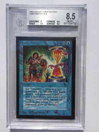 Bgs 8.  5 | Timetwister | Mtg Ce Collector