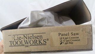 LIE - NIELSEN PANEL SAW,  7 PPI RIP CUT,  NIB,  COCOBOLO HANDLE VERY RARE 6