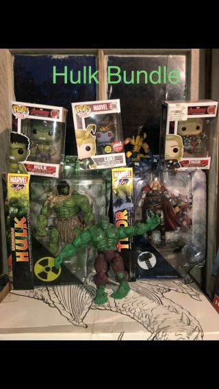 Marvel Legends Hulk Fin Fang Foom Baf Boxset W/ Rare Box & Pop & Other Figures