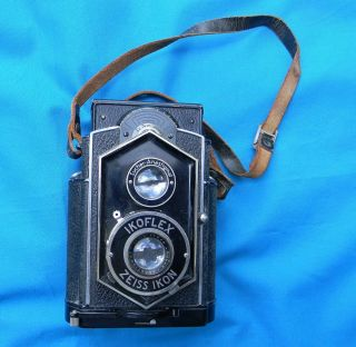 "Vintage Zeiss Ikon Ikoflex Twin Lens Camera "" Coffee Can """