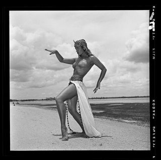 Rare Bettie Page 1954 Camera Negative Bunny Yeager Nude Egyptian Shoot