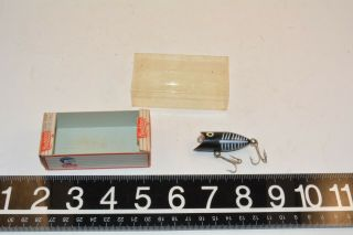Old Tuff Heddon Tiny Lucky 13 Spook Plastic Minnow Lure Bait In The Box