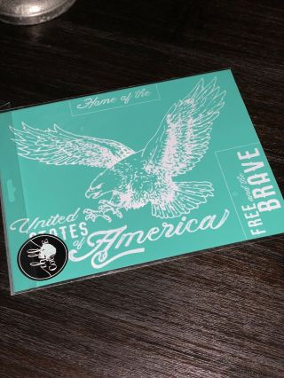 Retired Beyond Rare United States Eagle Chalk Couture Transfer Usa