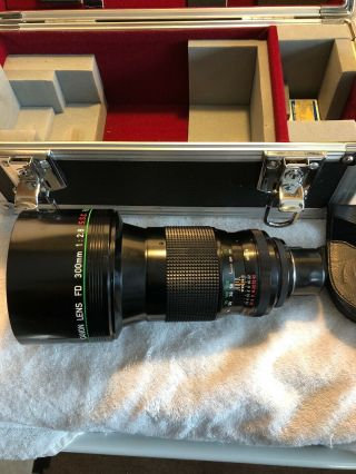 【rare Top Mint】canon Like Fd 300mm 1.  2.  8 Ssc Fluorite Lens (converted To Pl)