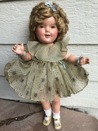 1930's Composition Ideal Makeup Shirley Temple Doll Outfit 20""