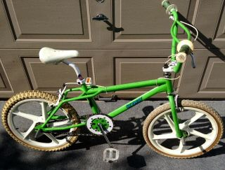 1985 Skyway Street Beat Bmx Neon Green Purple Complete 80