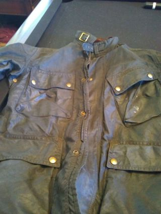 Vintage Barbour A155 Beaufort,  Wax Jacket,  Made In England