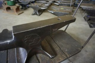 RARE EXCELL.  120 lb.  ENDERS FARRIER BLACKSMITH ANVIL Forge Iron 8