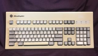 Vintage Silicon Graphics Silicongraphics 9500801 Keyboard Upt2