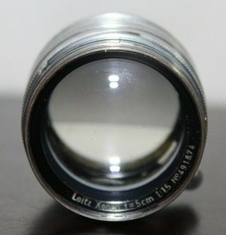 Rare Very Late Model Leica Xenon F=5cm 1:1.  5 Screw Mount Lens 4 Ring Last 137