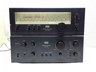 Vintage Sansui Au - 517 Integrated Amplifier And Tu - 517 Am - Fm Stereo Tuner 3474
