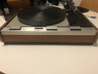 Vintage Thorens Td - 125 Mkii Turntable Record Player Belt Drive W/ Shure Sme 3009