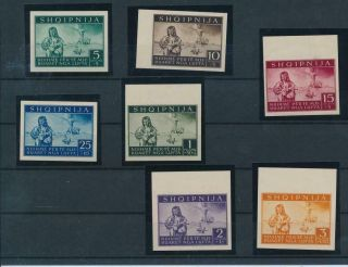 [g14115] Albania 1944 Occupation Rare Set Very Fine Mnh Stamps Imperf Val $5250