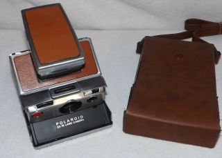 Vintage Polaroid Sx - 70 Land Camera - Instant Film Camera With Leather Case